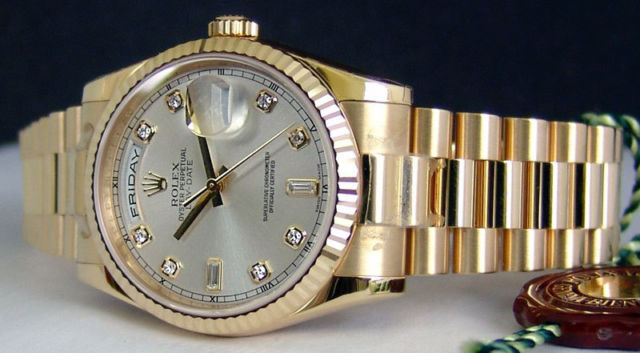 Rolex President Day Date 118238 18k Gold Real Gold Watches
