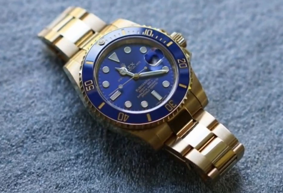 Rolex Submariner 18kt Yellow Gold Blue Dial
