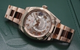 Rolex Sky Dweller Sundust Dial 18kt Everose Gold Mens Watch