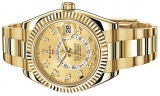 Rolex Sky Dweller 18K Yellow Gold Men watch